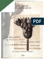 Inocencia, Experiencia e Imaginación. La Obra Poética de William Blake. en Revista Universidad de Antioquia N. 260