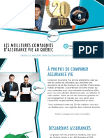 Top 20 des meilleures compagnies d'assurance vie au Québec