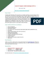International Journal of Computer Aided Technologies IJCAx