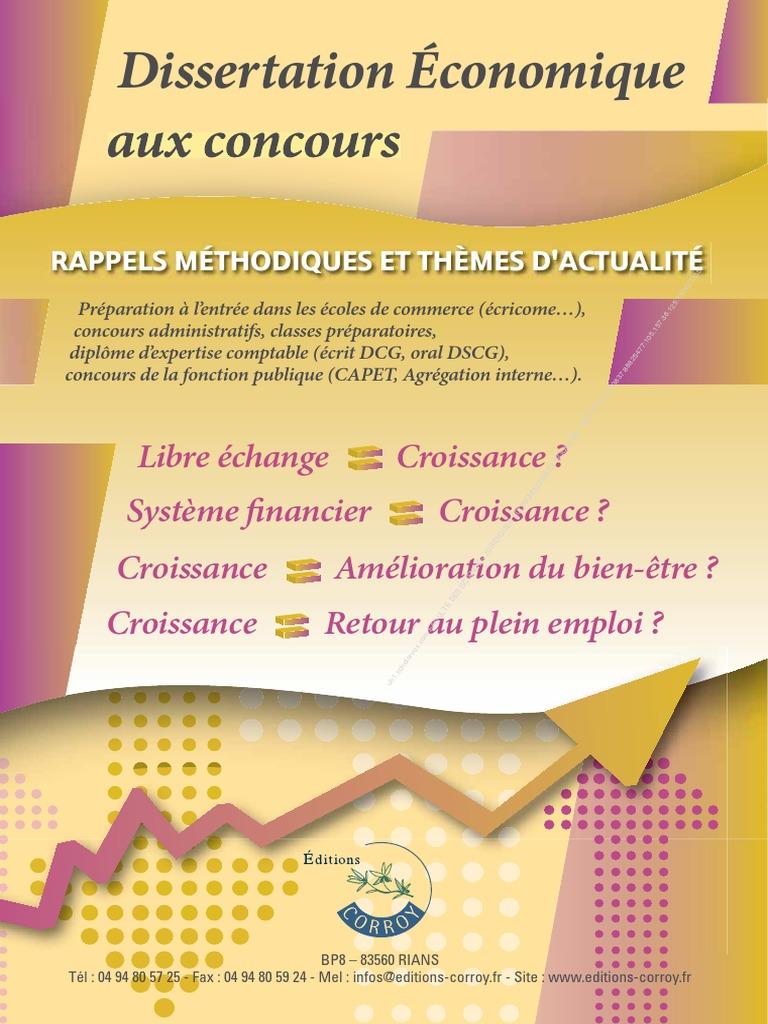 La Dissertation Des Concours   Économie   Économie (Général)