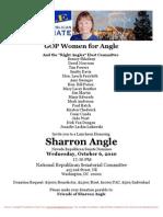 Luncheon for Sharron E. Angle