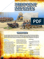 Swordpoint army list