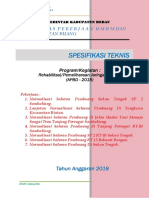 Spesifikasi Teknis Pemeliharaan Irigasi 2018 PDF