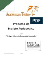 Projecto Pedagógico Teatro- 2018