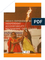 Case Study on India's Experience With Independent Accountability Mechanisms
