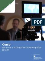 Curso de Iniciación a La Dirección Cinematográfica 2018-19
