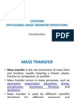 Introduction to Diffusinal Mass Transfer