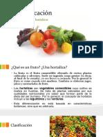 Clasificación de Frutas y Hortalizas
