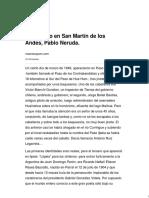Un Fugitivo en San Martín de Los Andes, Pablo Neruda