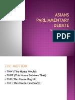 Asians Parliamentary Debate