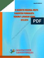 Produk Domestik Regional Bruto Kabupaten Purwakarta Menurut Lapangan Usaha 2012-2016