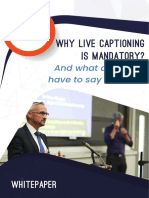 Why live captioning is mandatory? What does NAD have to say about it?