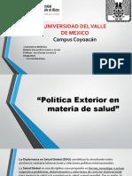 Politica Exterior en Materia de Salud (1)