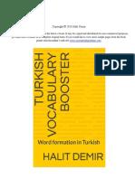 Turkish language - English-Turkish cognates