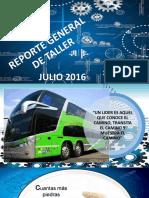 Reporte General de Taller Julio 2016