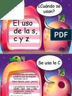 Uso de La c,s y z
