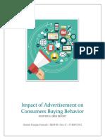 Impact of Advertisement on Consumer Behaviour