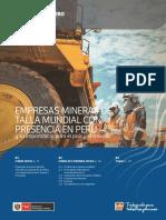 Boletín Estadístico Minero, Perú, febrero 2018