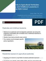 De amerikanske forskeres præsentation af sammenhæng mellem pesticider og leukæmi