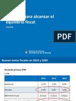Anuncio de Hacienda para alcanzar el equilibrio fiscal