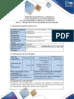 Guía de Actividades y Rúbrica de Evaluación - Paso 1 - Diagnóstico de Necesidades de Aprendizaje