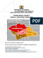 Trans Nzoia County Weekly Weather Forecast 4_10 Sep 2018
