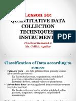 Lesson 10 Data Collection Techniques