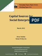 Capital Sources for Social Enterprises (1