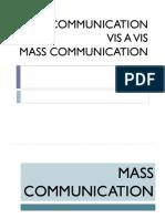 Lesson 3 Communication Vis a Vis Mass Communication