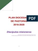 Plan Diocesano de Pastoral 2016-2020