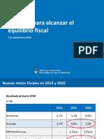 Paquete de medidas anunciado por Dujovne
