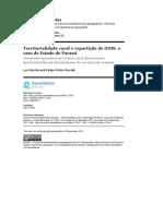 5 - Territorialidade Rural e Repartição Do CMS. O Caso Do Estado Do Paraná