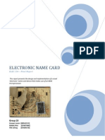 Digital Name Card - micro processor project