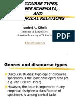 Genres Rhetorical Relation