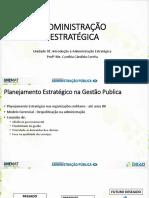01 - Introdução a Administração Estratégica