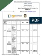Agenda - ECOLOGIA HUMANA - 2018 I Periodo 16-01 (Peraca 471)