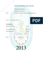 Informe Puerto Paralelo