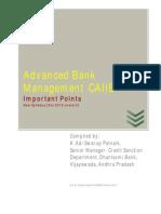 Advanced Bank Management- Module A