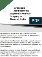 Laparoscopic Appendicectomy, Appendix Removal Surgery in Mumbai, India