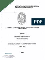 CURADO Y PROTECCIÓN DE CONCRETOS COLOCADOS EN CLIMAS FRÍOS