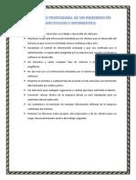 Perfil Etico Profesional de Un Ingeniero en Computacion e Informatica