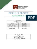 Bus 251 Final Project Team Meraki