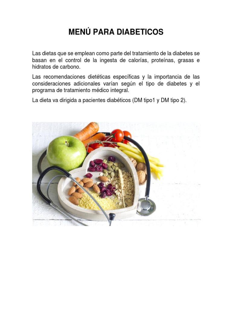 diabetes dietas menús dietéticos