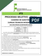 Prova Integrado 2013 1 Aju Lag e Sc