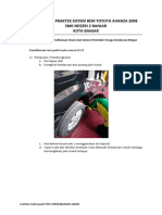 Pemeriksaan Sistem Rem Toyota Avanza 2008