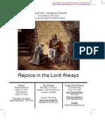 July 11, 2010 Church Bulletin, Saint Paul's Evangelical Lutheran Church