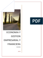 Economia y Gestion Empresarial y Financ