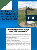 curso de diseño de proyectos de agua potable y saneamiento