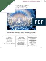 August 1 2010 Church Bulletin, Saint Paul's Evangelical Lutheran Church