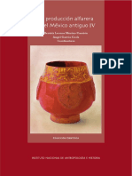 La Producción Alfarera en El México Antiguo IV